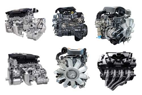 selection of new car engines